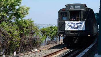 A Vintage Train Inaugurates Post-Sandy A Train Service to Rockaways