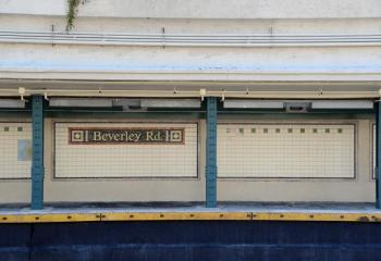 Q line platform at Beverly Road in Brooklyn