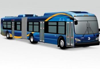 Rendering of new MTA bus prototype