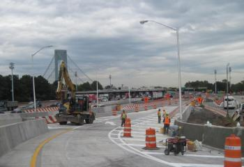 Top of new ramp where drivers will merge