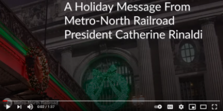 Holiday Message from Metro-North President Catherine Rinaldi